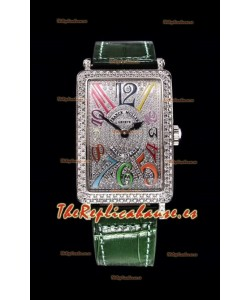 Franck Muller Largo Island Color Dreams Ladies Reloj Suizo en Correa Verde