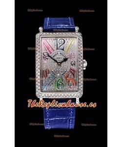 Franck Muller Largo Island Color Dreams Ladies Reloj Suizo en Correa Azul