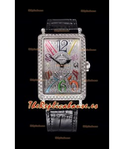 Franck Muller Largo Island Color Dreams Ladies Reloj Suizo en Correa Negra