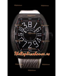 Franck Muller Vanguard Reloj Suizo Caja de Carbono Índices color Negro
