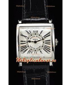 Franck Muller Master Square Ladies Reloj Réplica a Espejo 1:1 Correa Negra