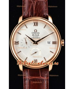 Omega Co-Axial Prestige Power Reserve Reloj Suizo Oro Rosado