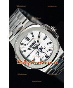Patek Philippe Nautilus 5726A Reloj Suizo a Espejo 1:1 Dial Blanco