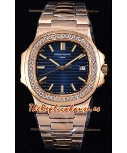 Patek Philippe Nautilus 5711/1R Reloj a Espejo 1:1 - Bisel con Diamantes redondeados