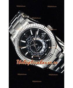 Rolex SkyDweller Reloj Suizo en Caja de Acero - Edición DIW Dial Negro