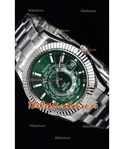 Rolex SkyDweller Reloj Suizo en Caja de Acero - Edición DIW Dial Verde