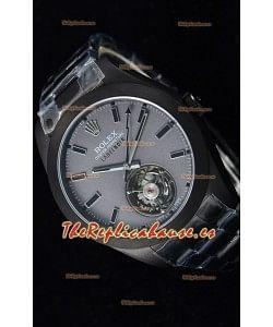 Rolex Milgauss LABELNOIR Tourbillon Reloj Réplica Suizo Caja revestida de PVD