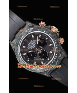 Rolex Daytona DiW Forged Reloj Réplica a espejo 1:1 Caja de Carbono con Correa color Negro