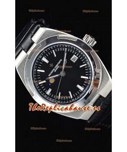 Vacheron Constantin Overseas MoonPhase Reloj Suizo Acero Inoxidable Dial Negro