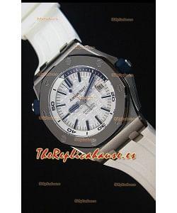 Audemars Piguet Royal Oak New Diver 1:1 Reloj Replica Suizo a escala 1:1 Color Blanco