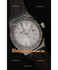 Audemars Piguet Royal Oak 41MM Dial Gris Correa de Goma - Reloj Réplica a espejo 1:1, Edición Última