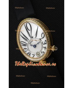 Breguet Reine De Naples Ladies Reloj Réplica Suizo a Espejo 1:1 de Oro Amarillo de 18K