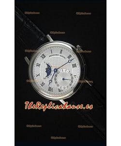 Breguet Classique Moonphase Reloj Replica Suizo de Acero Inoxidable