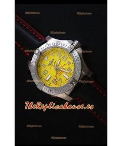 Breitling Avenger II Seawolf Correa de Piel Negra 45MM - Reloj Replica a escala 1:1