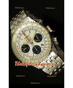 Breitling Navitimer 01 Reloj replica Suizo a Escala 1:1 Actualizado a 2017, Dial Blanco
