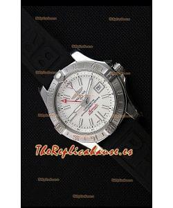 Breitling Avenger II GMT Reloj Replica Suizo a Espejo 1:1 Dial Blanco