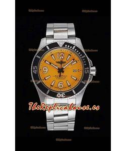 Breitling Superocean Automatic 44 Steel - Dial Amarillo Reloj Réplica a Espejo 1:1