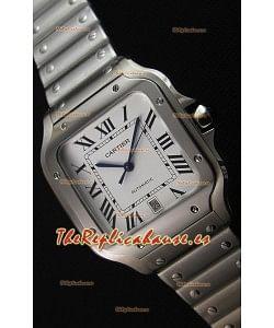 Cartier Santos De Cartier Reloj Réplica a Espejo 1:1 - Reloj de Acero Inoxidable 36MM