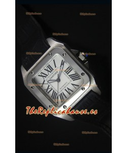 Cartier Santos 100 42MM Reloj con caja tipo Suizo y Movimiento Japonés