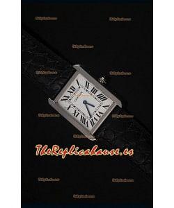 Cartier Tank Solo Reloj Cuarzo Suizo Correa de Piel Tamaño Medio 28MM Ancho
