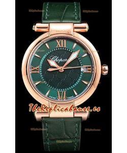 Chopard Imperiale Dial Blanco Reloj Réplica Suizo Automático Caja en Oro Rosado Acero 904L
