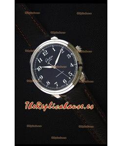 Glashuette Senator Excellence Dial Negro, Caja de Acero Reloj Replica Suizo