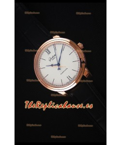 Glashuette Senator Excellence Dial color Crema, Caja de Oro Rosado Reloj Replica Suizo