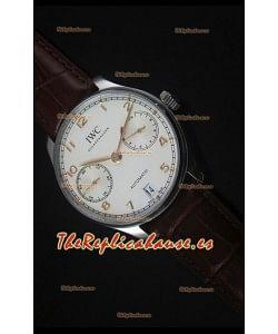 IWC IW500704 Portugieser Reloj Suizo Replica a escala 1:1 Dial Blanco - Versión 2016 Actualizada