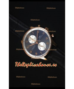 IWC Portuguese Chrono Automatic Jackie Chan Reloj Replica Suizo a Espejo 1:1