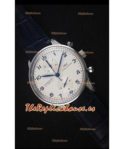 IWC Portuguese Reloj Replica Suizo Cronógrafo a Espejo 1:1 con Diamantes