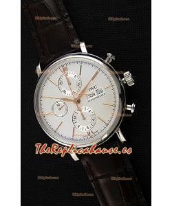IWC Portofino Chronograph IW391022 Dial Blanco Réplica a Espejo 1:1