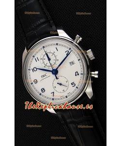 IWC Portugieser Chronograph Classic IW390302 Reloj Réplica Suizo Dial Blanco