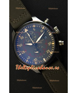 IWC Pilot's Watch Chronograph Top Gun Miramar IW389002 Ceramic Anthracite Dial Reloj Réplica a Espejo 1:1
