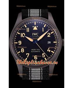 IWC Pilot's MARK XVIII Heritage Reloj Suizo a Espejo 1:1 Acero 904L Caja color Negro con acabado Mate