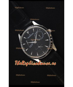 Jaeger-LeCoultre Master Ultra Thin Réserve De Marche Dial Negro Reloj Replica a Espejo 1:1