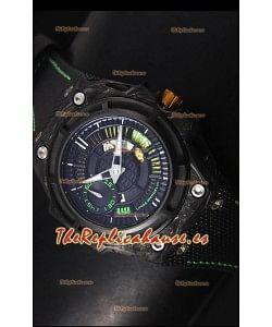 Linde Werdelin Spidolite II Reloj Replica Suizo Caja color Verde en Carbón Forjado