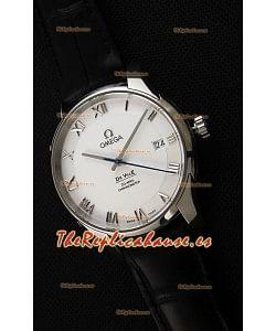 Omega De-Ville Annual Calendar Co-Axial Reloj Réplica Suizo a Espejo 1:1 Dial Blanco