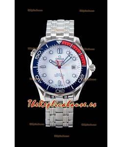 Omega Seamaster Diver 300M 007 Commander's Edition Reloj Réplica Suizo a Espejo 1:1 Acero 904L