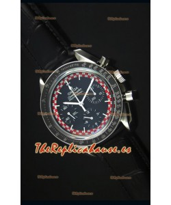 Omega Speedmaster Tintin Moon Reloj Replica Suizo con Correa de Piel