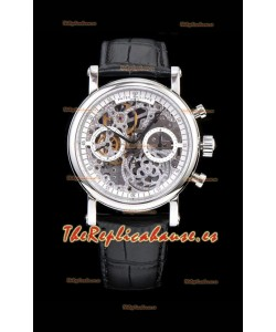 Patek Philippe Complications Skeleton Reloj Cronógrafo en Caja de Acero 904L