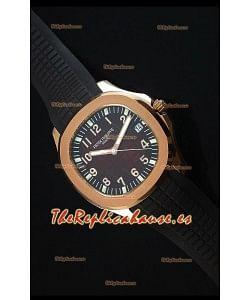 Patek Philippe Aquanaut Jumbo Oro Rosado Reloj Replica Escala 1:1 - Dial de color Rojo Vino