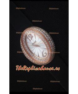Piaget Limelight Magic Hour Reloj de Cuarzo Suizo en Oro Rosado con Correa Negra