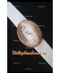 Piaget Limelight Magic Hour Reloj de Cuarzo Suizo en Oro Rosado con Correa Blanca