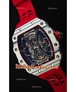Richard Mille RM53-01 Pablo Mac Donough Caja de Carbón Forjado color Blanco Reloj Réplica Suizo