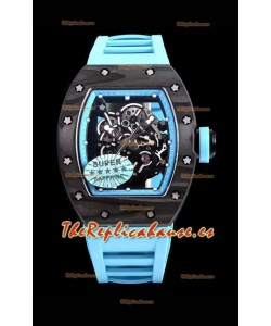 Richard Mille RM055 Blue Legend Caja en Carbono Reloj Réplica Suizo