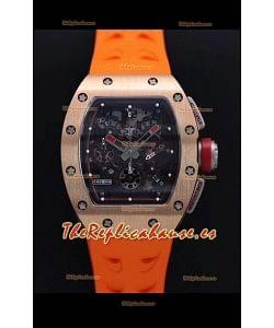 Richard Mille RM011-FM Felipe Massa Caja en Oro Rosado Reloj Réplica Suizo