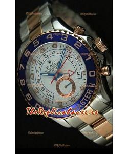 Rolex Yachtmaster II Reloj de Oro Rosado en Dos Tonos - Replica 1:1 (Cronógrafo trabajando)