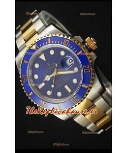 Rolex Submariner 16613 Reloj Replica Suiza 1:1 En Oro con Bisel de Cerámica de dos Tonos con Movimiento Suizo 3135