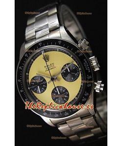 Rolex Daytona Vintage REF 6264 Off- Dial Blanco Reloj Réplica Suizo- Reloj de Acero 904L