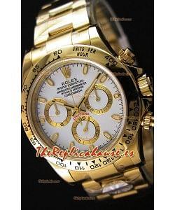 Rolex Cosmograph Daytona 116508 Movimiento Original Cal.4130 - Reloj de Acero 904L Mejorado y Actualizado Oro Amarillo